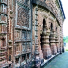 Detail of terracotta ornamentation Shyam Rai temple. Photograph by Anunoy Samanta.